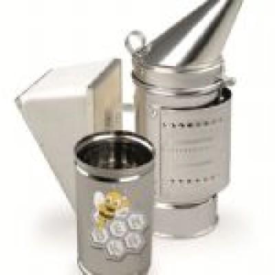 Afumător cu recipient (inox)